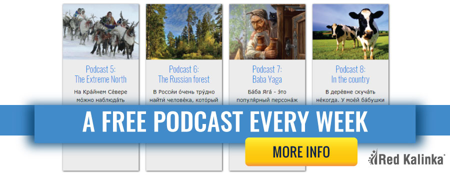 Free access to podcasts to learn Russian